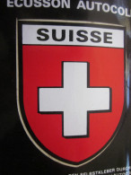 SUISSE HELVETIA  SEBSTKLEBENDE  STOFFABZEICHENAUF-ÉCUSSON BLASON AUTOCOLLANT VINYL LAVABLE Autre Collection - Autocollants
