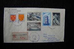 A550 - FRANCE FRANKREICH - Michel 1106/1108/1105 - Dallay 109/1102 5.11.1956 Paris Recommande => Dülmen / EUROPA CEPT - Frankreich