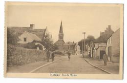 HENSIES - LA RUE DE L'EGLISE - Hensies