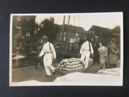 Netherlands---Alkmaar-Kaasmarkt (cheese-market)  --The Amber Serie 162/7,imported Frankenberg----used 1931 - Markets