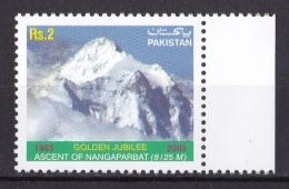 PAKISTAN, 2003,  First Ascent Of Nanga Parbat, Mountain, 1 V, MNH, (**) - Pakistan