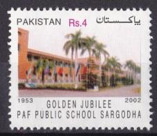 PAKISTAN, 2003,  Pakistan Air Force, (PAF), School, Golden Jubilee, Militaria,  1 V, MNH, (**) - Pakistan