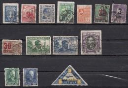 Lituanie  Lot De 14 Timbres 1919-1940 - Lituanie
