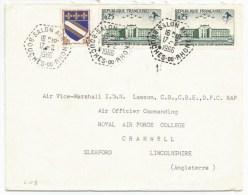 C108 - SALON AIR Bouches Du Rhone - 1966 - Pour Angleterre - - Marcofilia (sobres)