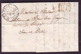 """SEINE & OISE - LAC - Tàd T15 SAINT CHERON + """"P.P."""" En Rouge Pour Brin Sous Forges (72), Au Verso Taxe 2 - 1801-1848: Précurseurs XIX"""