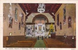 Mexico Ciudad Juarez Interior Church Of Guadalupe 1957 Curteich