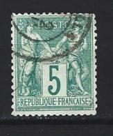 "YT 64 Type I "" Sage 5c. Vert "" 1876-78 Cachet Date - 1876-1878 Sage (Type I)"