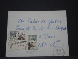 ALGERIE - Env Recommandée Pour La France - 1954 - A Voir - P17915 - Algeria (1924-1962)