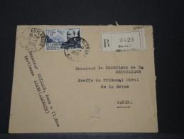 ALGERIE - Env Recommandée Pour La France - 1955 - A Voir - P17916 - Algeria (1924-1962)