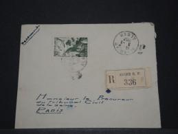 ALGERIE - Env Recommandée Pour La France - 1952 - A Voir - P17926 - Covers & Documents