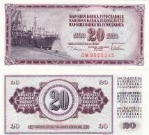 Yugoslavia - 20 Dinara 1978 UNC Pick 88a Lemberg-Zp - Yougoslavie