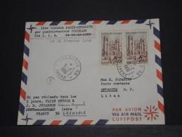 FRANCE - Env Première Liaison Paris Beyrouth Par Compagnie LIA Par Quadriréacteyur Coronado - 1966 - A Voir - P18534 - Liban