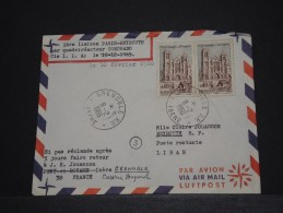 FRANCE - Env Première Liaison Paris Beyrouth Par Compagnie LIA Par Quadriréacteyur Coronado - 1966 - A Voir - P18535 - Liban
