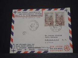 FRANCE - Env Première Liaison Paris Beyrouth Par Compagnie LIA Par Quadriréacteyur Coronado - 1966 - A Voir - P18536 - Liban