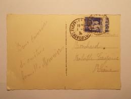 Marcophilie Lettre Enveloppe Cachet Obliteration Timbre - CP Paray Le Monial - N° 365 Bande Publicitaire (453) - Marcophilie (Lettres)