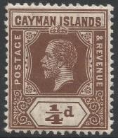 Cayman Islands. 1912-20 KGV. ¼d MH. SG 40 - Cayman Islands
