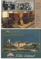 3025  Lote De 2  Postales  New York , Estados Unidos, Ellis  Island - Ellis Island