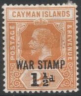 Cayman Islands. 1919-1920 War Stamp. 1½d On 2½d MH. SG 59 - Cayman Islands