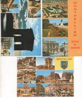 3025  Lote De 3  Postales Francia , Montpellier  Vistas Varias - Montpellier