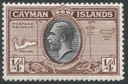 Cayman Islands. 1935 KGV. ¼d MH. SG 96 - Cayman Islands