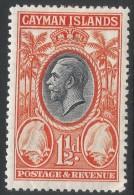 Cayman Islands. 1935 KGV. 1½d MH. SG 99 - Cayman Islands