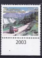 PAKISTAN, 2003, 25th Anniversary Of Karakoram Highway, Mountain, Peaks, 1 V,  MNH, (**) - Pakistan
