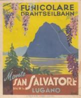 10485-ORARIO FERROVIA DEL MONTE S.SALVATORE-1955-BROCHURE - Europe