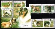 Afghanistan 1999 Dogs Set + Souvenir Sheet Collie Welsh Corgi MNH - Cani
