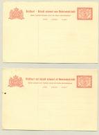Nederlands Indië - 1909 - 5+5 Cent Briefkaart G22 - Let Op!! 2 Losse Kaarten - Nederlands-Indië