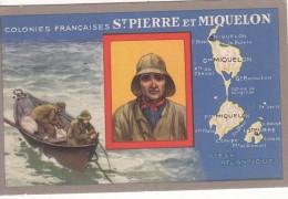 """Colonies Française  """"  SAINT PIERRE Et MIQUELON """"  - Edition Spéciale Des Produits Du Lion Noir - Landkaarten"""