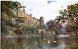 SALMON ART - QUATREMAIN 830 - WARWICK CASTLE FROM THE AVON - Warwick