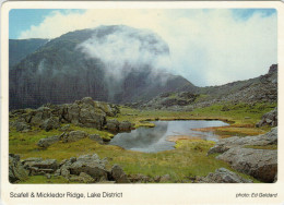 SCAFELL & MICKLEDOR  RIDGE    LAKE DISTRICT      (VIAGGIATA) - Inghilterra