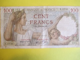Lot De 9 Billets/100 Frs SULLY /En L´Etat/7 De 1940, Et 2 De 1941 / 1940-1941       BILL135 - 1871-1952 Anciens Francs Circulés Au XXème