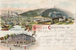 CPA KREUZTAL- PANORAMA, FACTORY, HOTEL, HORSE CARRIAGE - Kreuztal