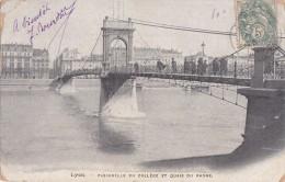 LYON Passerelle Du Collège Et Quai Du Rhône - Lyon