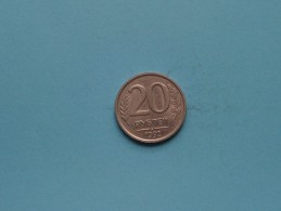1992 - 20 Kopeks / Y#314 ( Uncleaned Coin / For Grade, Please See Photo / Scans ) !! - Russie