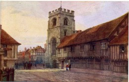 SALMON ART - QUATREMAIN 1103 - STRATFORD - GUILD CHAPEL AND SHAKESPEARE'S SCHOOL - Stratford Upon Avon