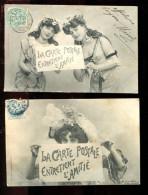 THMS BERGERET Lot De 2 Cartes La Carte Postale Entretient L'amitié - Bergeret