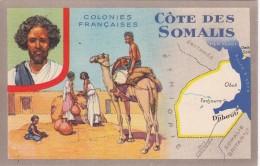"""Colonies Française  """"  COTE DES SOMALIS """"  - Edition Spéciale Des Produits Du Lion Noir - Landkaarten"""