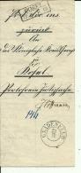 BRIEF   --   STEMPEL GNADENFELD  ( PAWLOWICZKY  ),   COSEL,- ( KEDZIERZYN -  KOZLE ) --  POLAND  --  1852 - Preussen