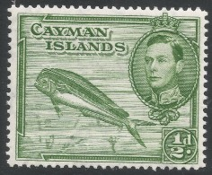 Cayman Islands. 1938-48 KGVI. ½d MH. P14 SG 116a - Cayman Islands