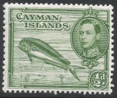 Cayman Islands. 1938-48 KGVI. ½d MH. P13X11½ SG 116 - Cayman Islands