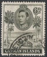 Cayman Islands. 1938-48 KGVI. 6d Used. SG 122a - Cayman Islands
