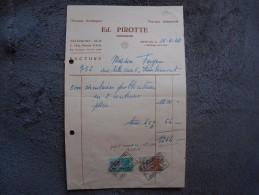 """Ancienne Facture """"Ed.Pirotte"""" Travaux Artistiques Ensival Verviers 1949 - Imprimerie & Papeterie"""