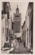 TUNISIE - TUNIS - Rue Sidi Ben Arous - CPSM Signée CAP - Tunisia