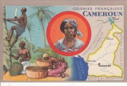 """Colonies Française  """"  LE CAMEROUN""""  - Edition Spéciale Des Produits Du Lion Noir - Landkaarten"""