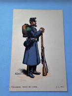 CARTE COULEUR ILLUSTREE PAR CHARLES MOREL-CHASSEUR TENUE DE GARDE-  TBE - Uniformi