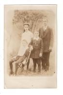 Carte Photo Belgique OUED GOD VIEUX DIEUX Photo D'une Famille (Suetens ?) Homme 3 Enfants 1912 - Belgique