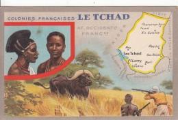 """Colonies Française  """"  LE TCHAD  """"  - Edition Spéciale Des Produits Du Lion Noir - Landkaarten"""