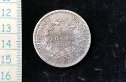 Monnaie De 5 Francs 1875 A - France